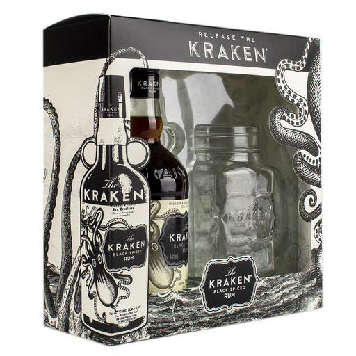 The Kraken Spiced Rum 35cl and Mason Jar Gift Pack
