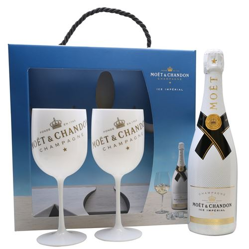 Moet and Chandon ICE Imperial Blanc NV Champagne 75cl 2 Glass Gift Box
