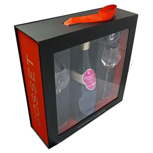 Gosset Grand Reserve Rosé Two Flute & Champagne Stopper Gift Pack 75cl 12% ABV