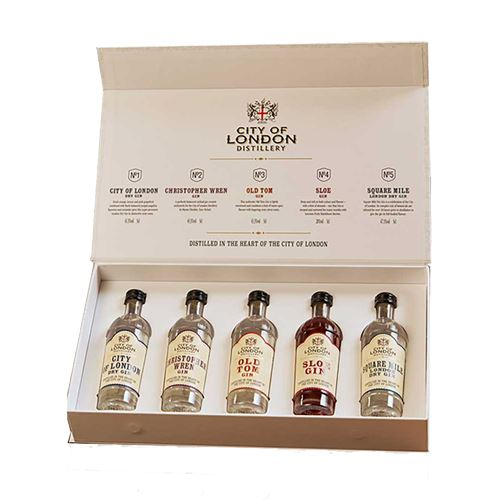 London Distillery Gin Taster Gift Pack 5x5cl 45.3% ABV