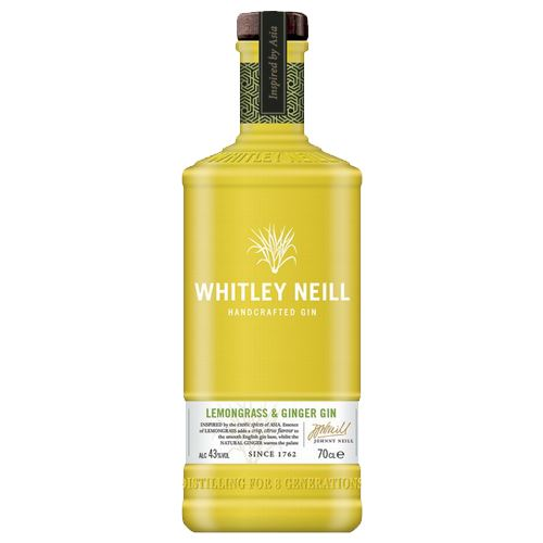 Whitley Neill Lemongrass and Ginger Gin 70cl 43% ABV