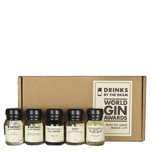 Drinks by the Dram World Gin Awards 2018 Overall Winners Tasting Set 5x3cl 43.8% ABV