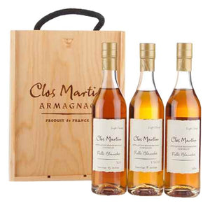 Clos Martin Single Cepage Armagnac Box Set 3 x 20cl (8 Year Old VSOP, 1989 & 15 Year Old XO)