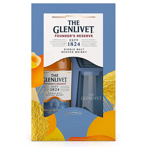 Glenlivet Founders Reserve Whisky Gift Pack 70cl