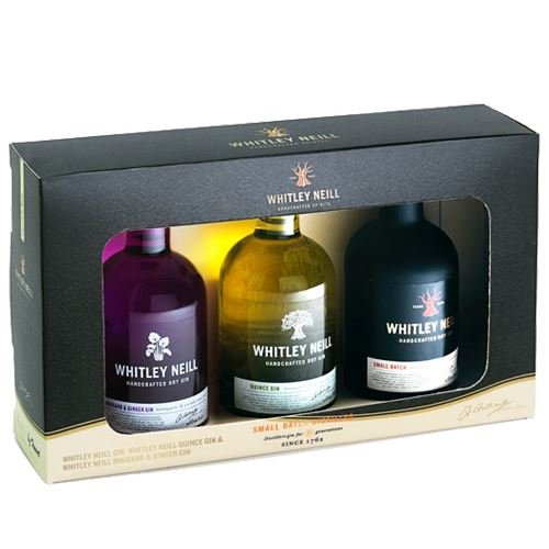 Whitley Neill Gin/Quince/Rhubarb Gin 3x5cl Gift Box Set