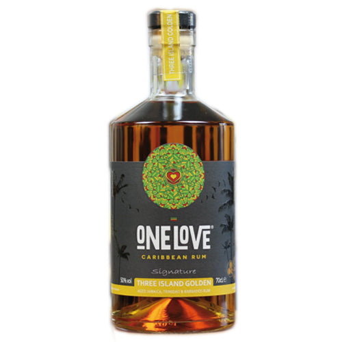 One Love Three Island Golden Rum 70cl 50% ABV