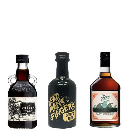 Miniature Spiced Rum Selection 3x5cl