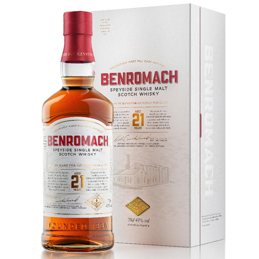 Benromach 21 Year Old Speyside Single Malt Scotch Whisky 70cl 43% ABV