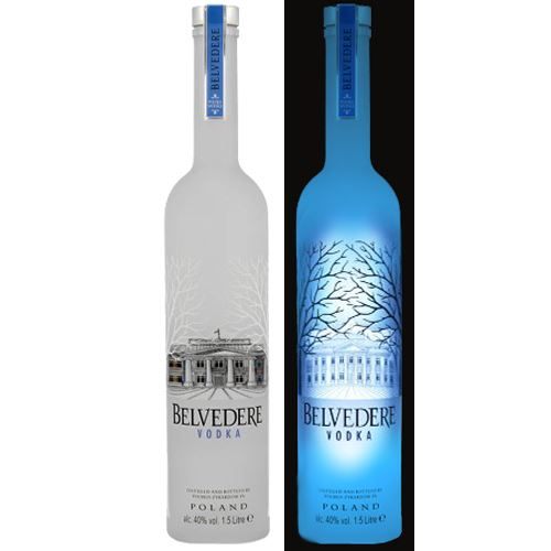 Belvedere Pure Vodka 1.75 Litre Limited Edition Illuminated Bottle 40% ABV