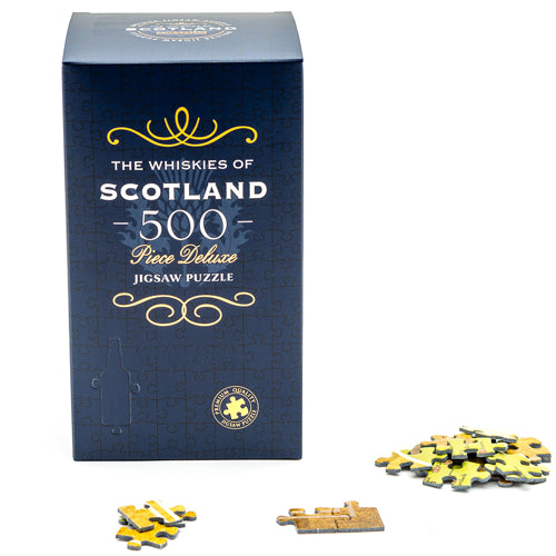 The Whiskies of Scotland - 500 Piece Deluxe Jigsaw Puzzle