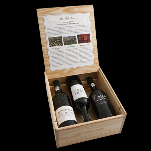 Taylors, Fonseca, Croft Vintage Port Trio Collection Pack 2007 3 x 75cl in Wooden Gift Box