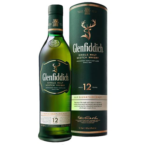 Glenfiddich 12 Year Old Whisky 70cl Gift Boxed 40% ABV