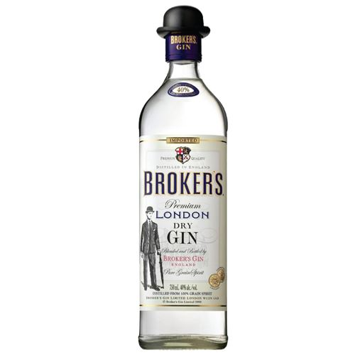 Brokers London Dry Gin 70cl 40% ABV