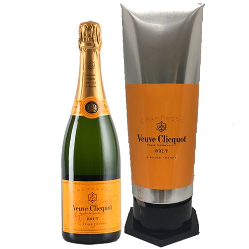 Veuve Clicquot Brut NV Champagne Yellow Label 75cl Paint Tube Gift