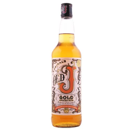 Old J Spiced Rum 70cl Gold