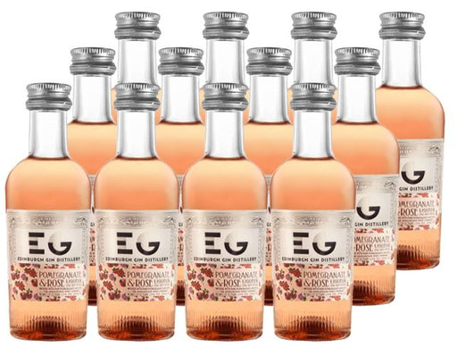 Edinburgh Gin Pomegranate and Rose Liqueur 12 x 5cl 20% ABV