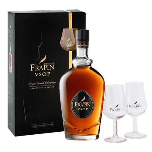 Frapin V.S.O.P. Grande Champagne Cognac 70cl Decanter Set with 2 Glasses Gift Boxed 40% ABV