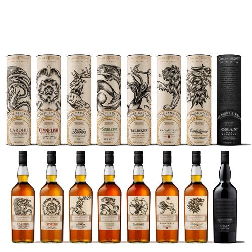 Game of Thrones Whisky Collection 8x70cl
