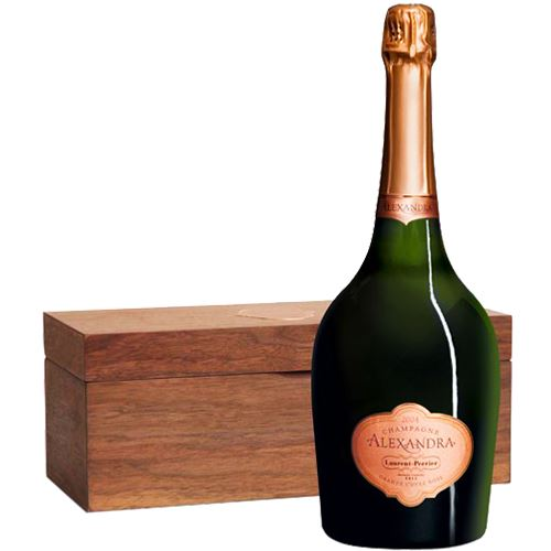 Laurent Perrier Alexandra Rose Champagne 2004 75cl In Wooden Gift Box