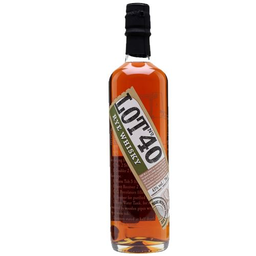 Lot 40 Rye Whisky 70cl 43% ABV