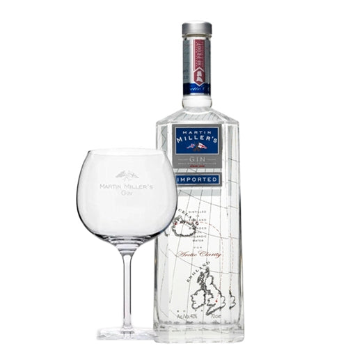 Martin Miller's Gin 70cl With Gin Glass 40% ABV