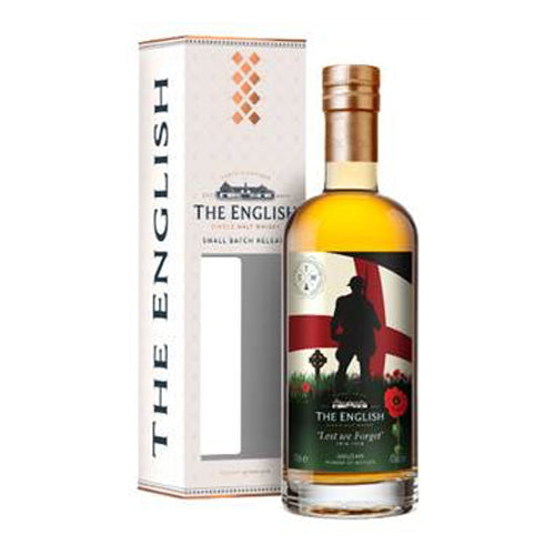 The English 'Lest We Forget' Small Batch Release Single Malt Whisky 70cl 43% ABV