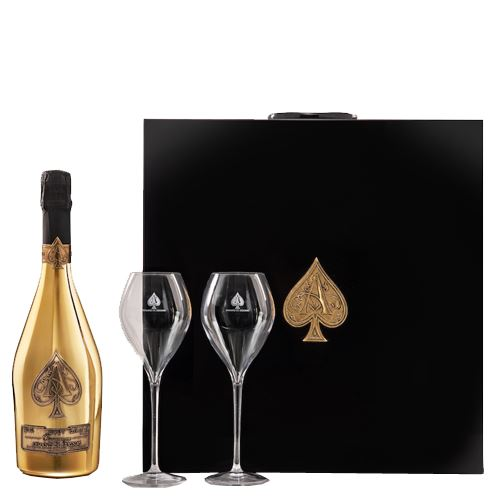 Armand De Brignac Ace of Spades Champagne Deux Flutes Limited Edition Two Glass Gift Set