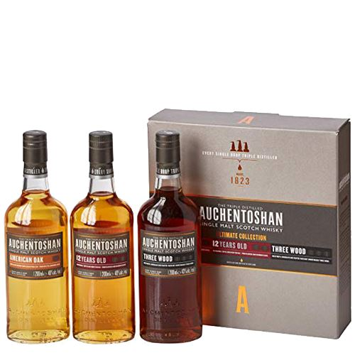 Auchentoshan Whisky Collection Gift Pack 3x5cl 41% ABV