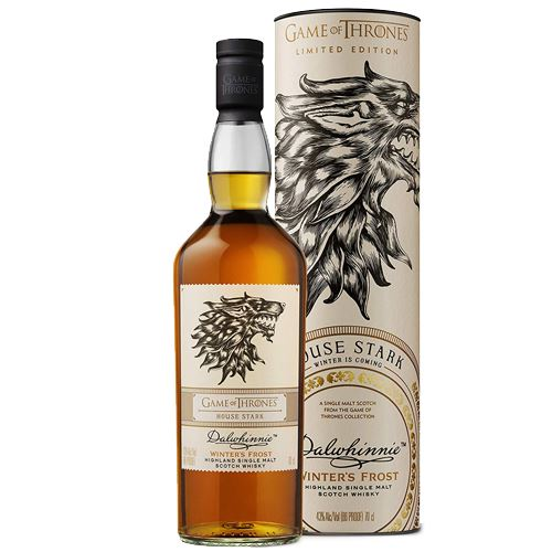 Game of Thrones House Stark - Dalwhinnie Winter's Frost Whisky 70cl