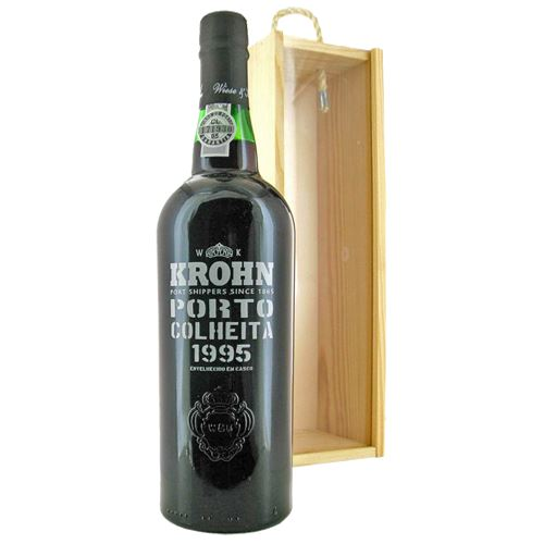 Krohn Colheita 1995 Vintage Tawny Port in Wooden Box 75cl 20% ABV