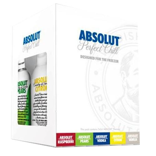 Absolut Vodka 'Perfect Chill' Freezer Gift Pack 5 x 5cl
