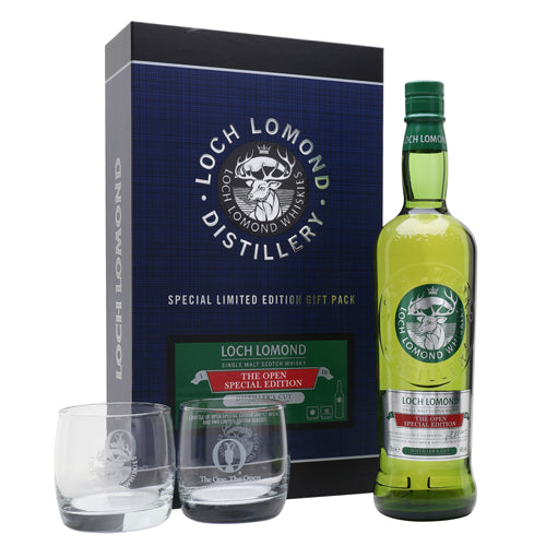 Loch Lomond The Open Golf Special Edition Whisky with 2 Glasses 70cl 46% ABV