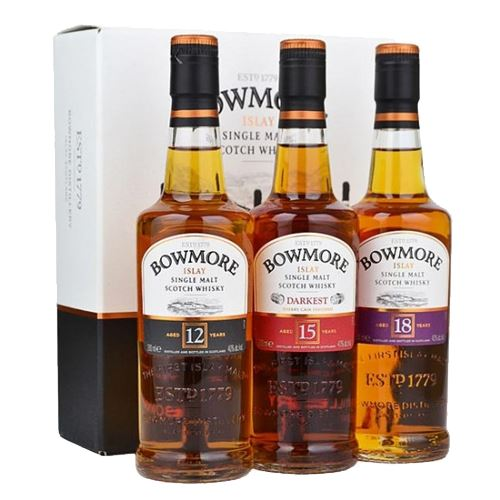 Bowmore Classic Whisky Collection 12/15/18yo 3x20cl
