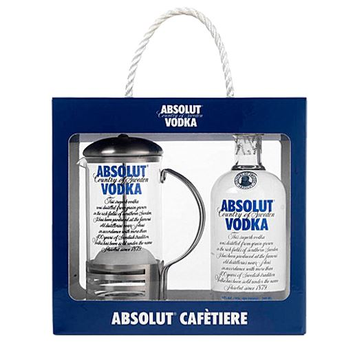 Absolut Vodka Cafetiere Gift Pack 70cl 40% ABV