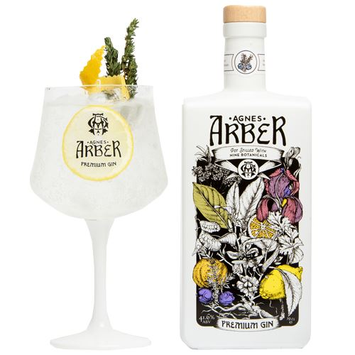 Agnes Arber Premium Gin 70cl 41.6%  ABV with Gin Glass