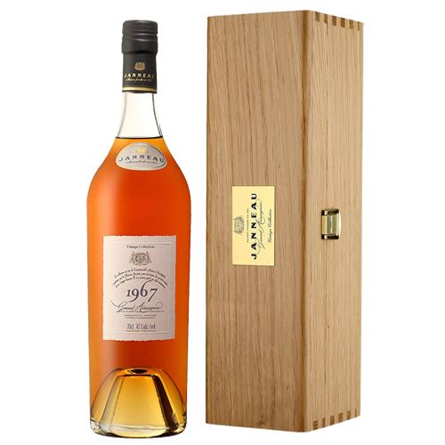 Janneau Vintage Collection Armagnac 1967 70cl In Wooden Gift Box 43% ABV