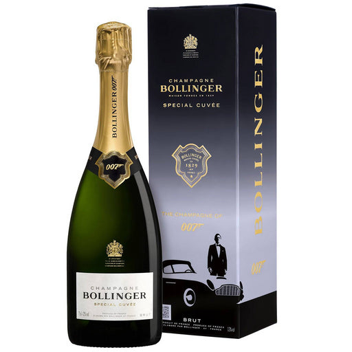 James Bond 007 Bollinger Champagne 75cl & Blackwell Bond Rum 70cl