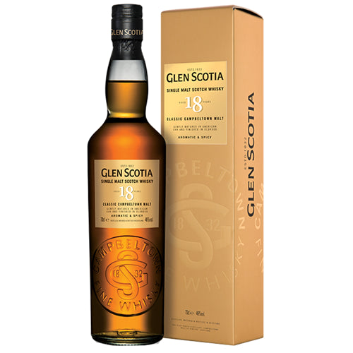 Glen Scotia 18 Year Old Single Malt Scotch Whisky 70cl 46% ABV
