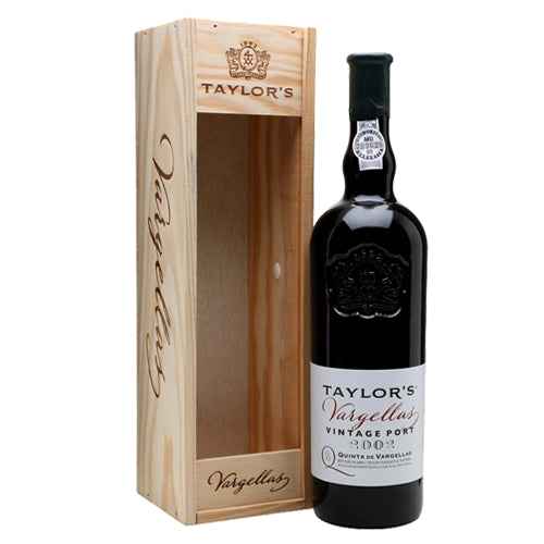 Taylors Quinta de Vargellas Vintage Port 2002 75cl in Wood