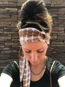 Natural Tie Dye Head Wrap