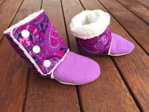 Paisley Bubba Boots~ 6-12 Months