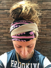 Load image into Gallery viewer, Pink Vintage Aztec Head Wrap