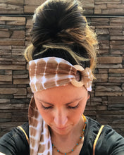 Load image into Gallery viewer, Natural Tie Dye Head Wrap