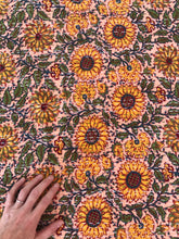 Load image into Gallery viewer, Sunflower Fields Kantha Quilt~ Peach