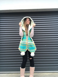 Aquarius Hooded Scarf