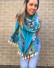 Load image into Gallery viewer, Summer Vibez Kantha Scarf