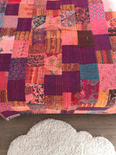 Load image into Gallery viewer, Purple Rain Kantha Quilt