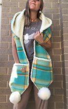 Load image into Gallery viewer, Aquarius Hooded Scarf