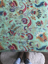 Load image into Gallery viewer, Paisley Dreaming Kantha Quilt