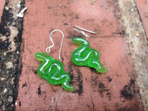Heart Snake Earrings